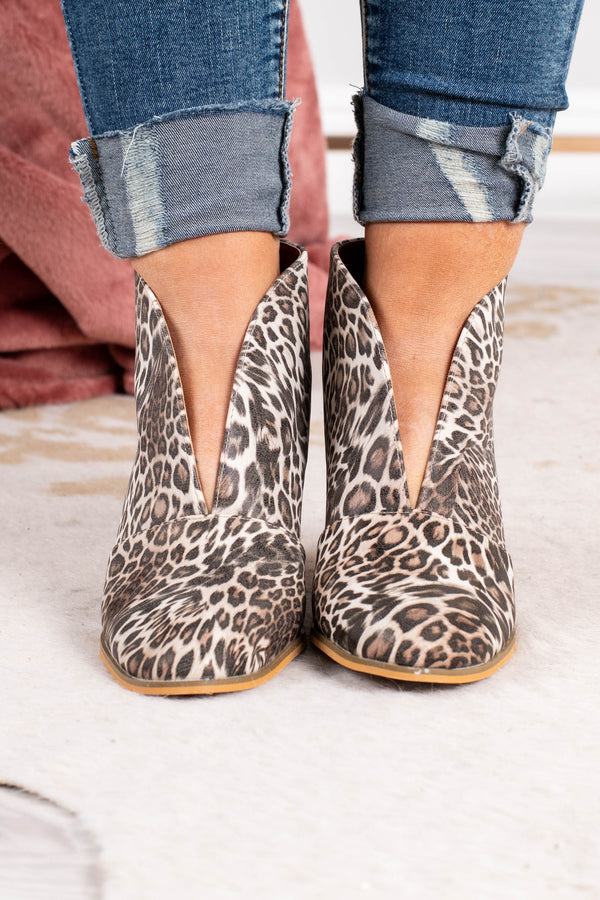 Stay In Step Booties, Leopard – Chic Soul