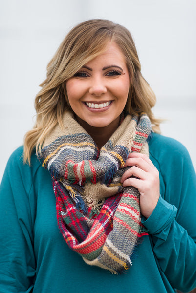First Class Infinity Scarf, Gray