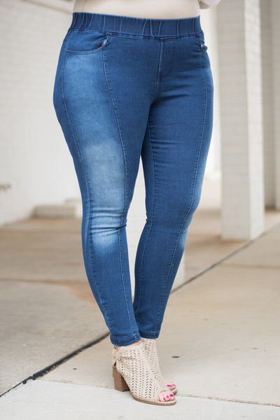 Feeling Right Jeggings, Dark Wash