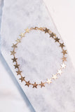 necklace, choker, stars, gold