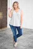 Barefoot At The Beach Tank, Heather Gray