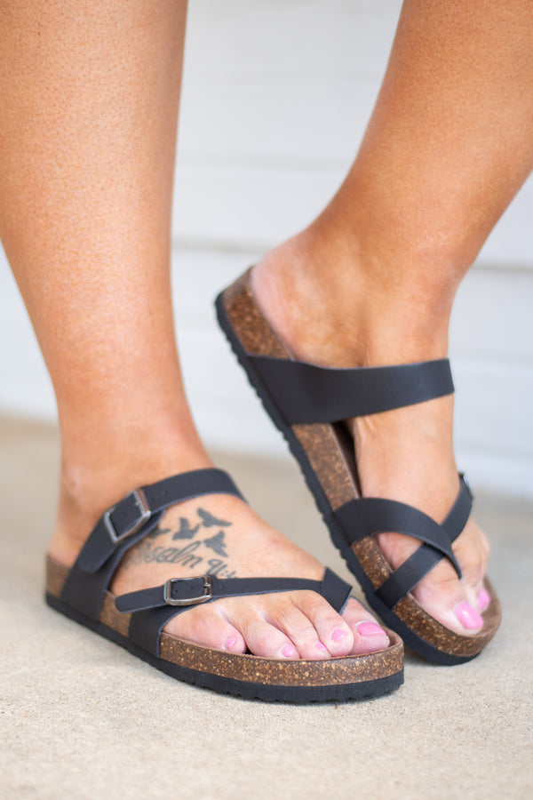 Great Adventure Sandals, Black