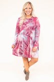 dress, short, long sleeve, babydoll, pockets, red, gray, white, tie dye, flowy, comfy