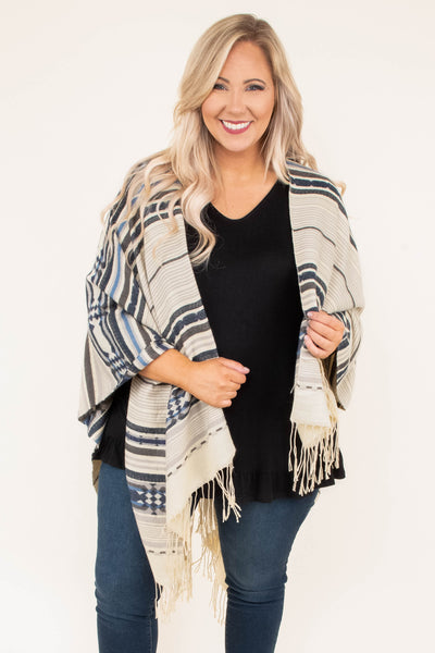 Scenic Overlook Poncho, Brown