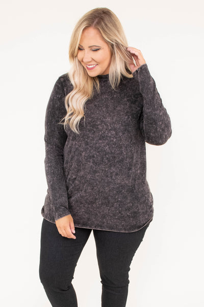 shirt, long sleeve, turtleneck, simple, charoal, heathered, comfy, fall, winter