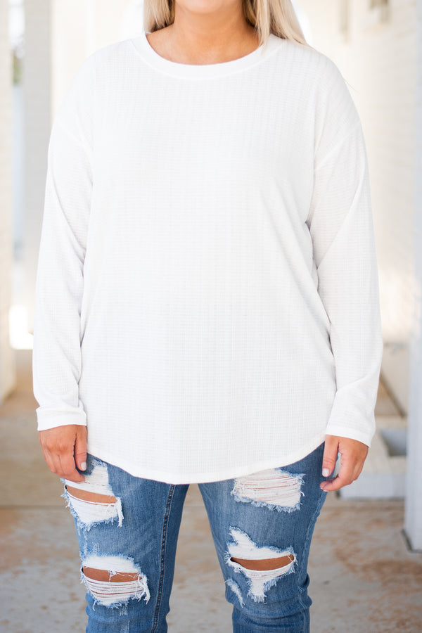 shirt, long sleeves, curved hem, white, solid, basic, fall, winter