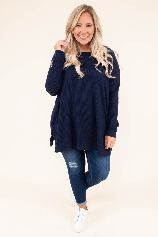 tunic, long sleeve, long, flowy, navy, comfy, ribbed, fall, winter