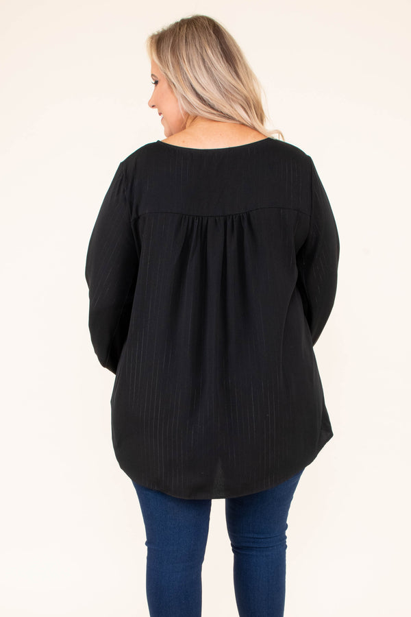 shirt, long sleeve, vneck, lace up neckline, bubble sleeves, longer back, black, flowy, comfy, fall, winter