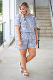 At The Beach Romper, Charcoal