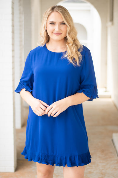 Front Row Seat Dress, Royal Blue