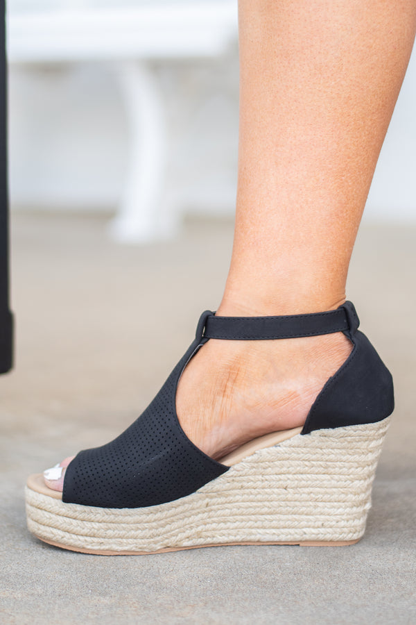 Rely On You Wedges, Black