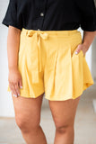 Holding Back Summer Shorts, Yellow