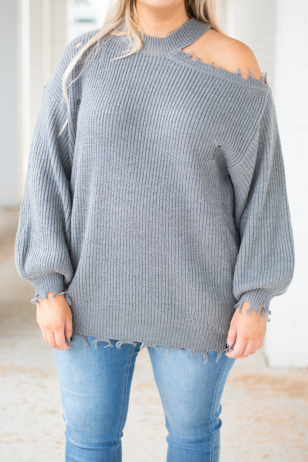 Endless Romance Sweater, Heather Grey