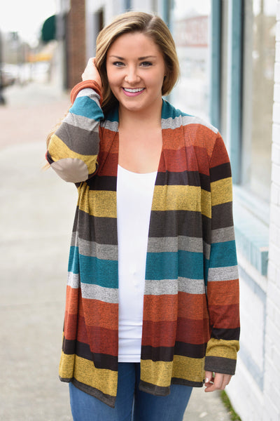 Warm Embrace Cardigan, Rust