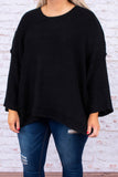 sweater, long sleeve, longer back, bell sleeves, black, comfy, fall, winter