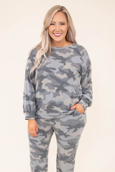 shirt, long sleeve, short, gray, leopard, loungewear, comfy