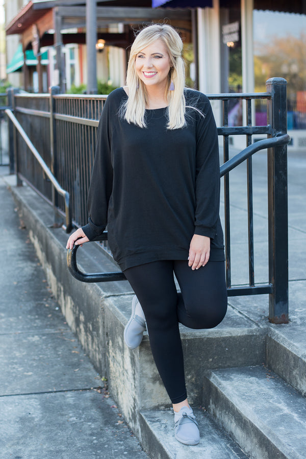 Luxe Leggings, Long Black