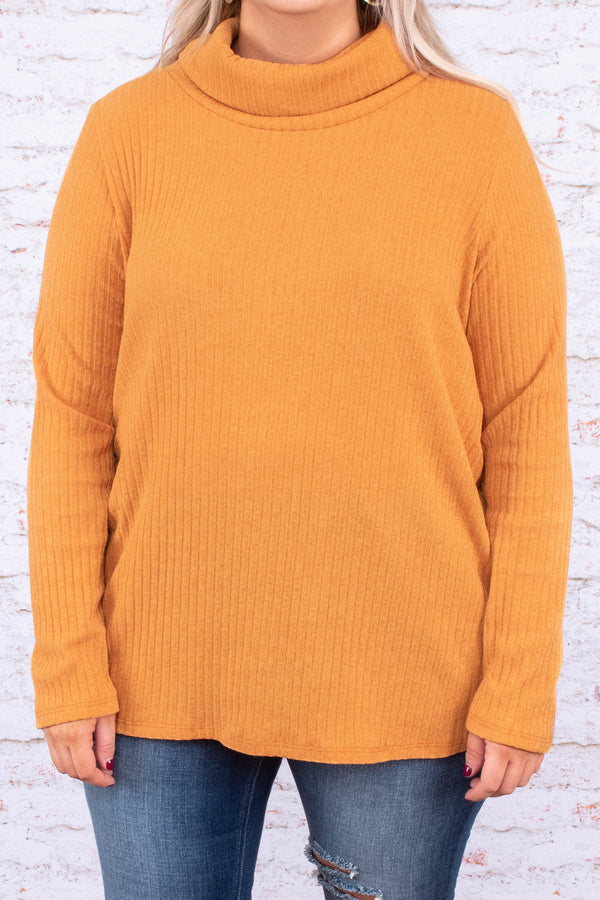 sweater, long sleeve, turtle neck, loose, ribbed, mustard, comfy, fall, winter