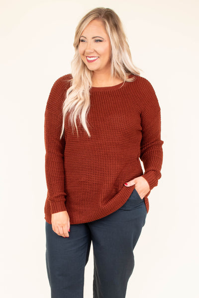 Know What I Mean Sweater, Dark Rust