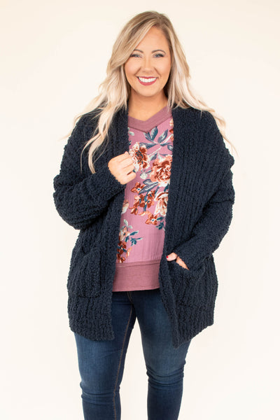 Perfect Touch Cardigan, Navy