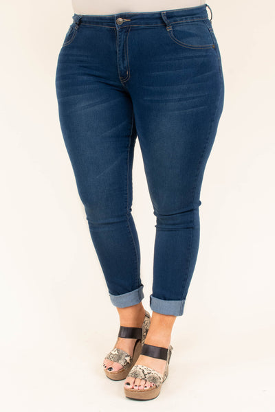 Are You Listening Skinny Jeans, Medium Wash