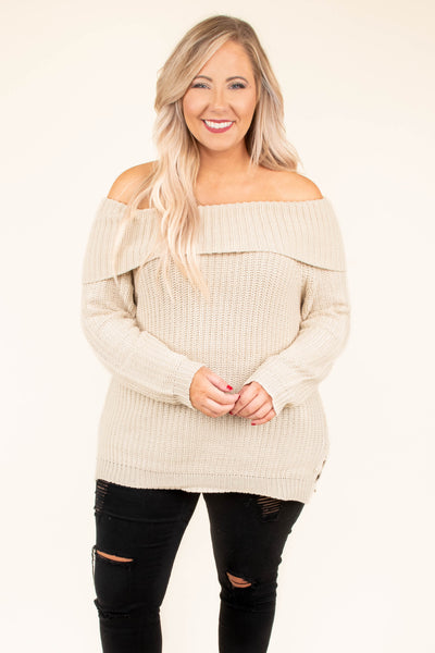 Something Brand New Sweater, Oatmeal