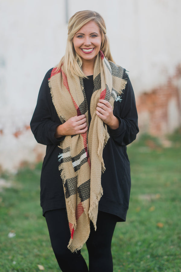 City Chic Scarf, Taupe