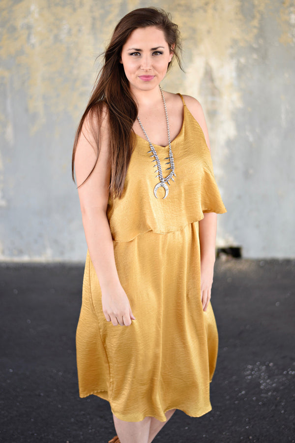 Here Comes the Sun Dress, Mustard