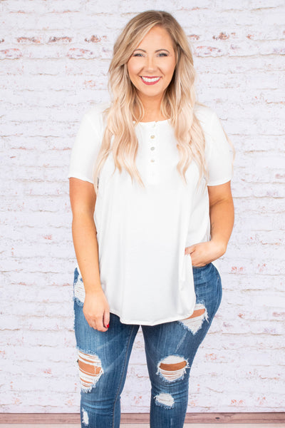 Created Comfort Top, Ivory