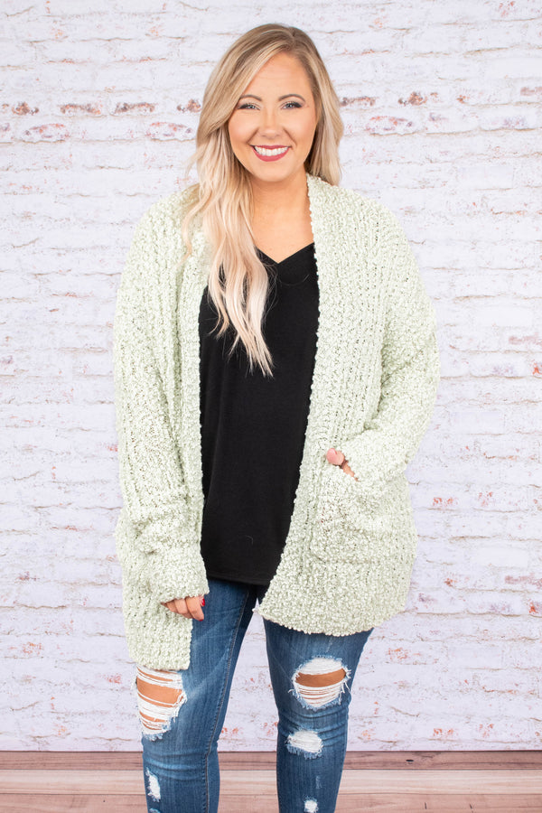 Perfect Touch Cardigan, Light Green