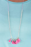 Feeling Fun Necklace, Hot Pink
