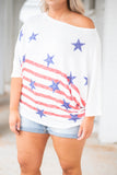 Bright Stars Top, White