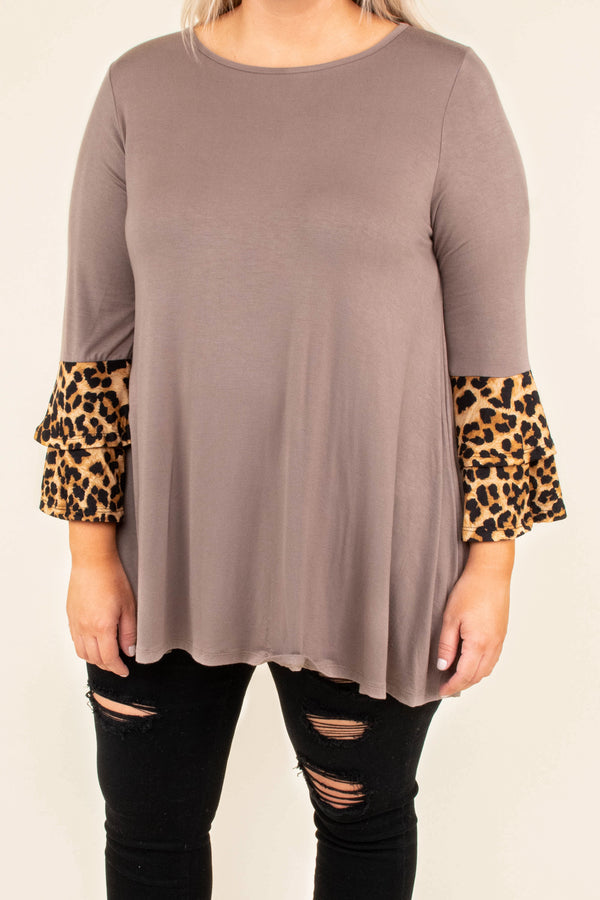 Nobody's Perfect Tunic, Taupe