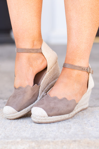 Every Day Is An Occasion Wedges, Taupe