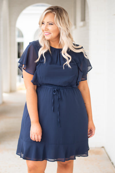 Cotton Candy Skies Dress, Navy