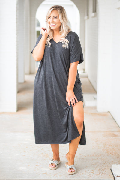 Sun Kissed Dress, Charcoal