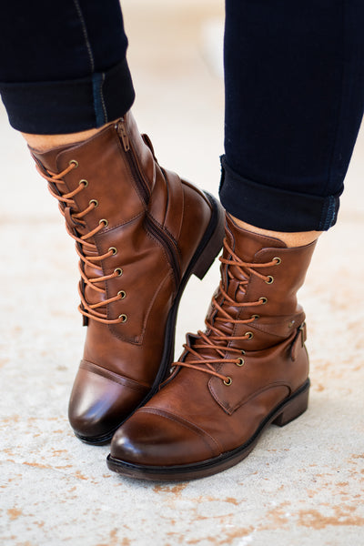 shoes, boots, combat boots, whiskey, brown, zipper, lace up