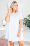 Last Minute Vacay Dress, Blue-Ivory