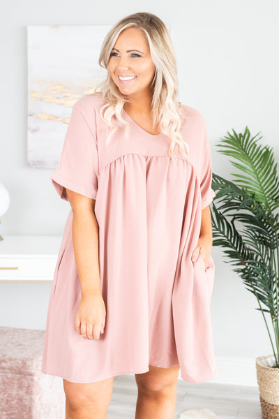 Beach Breeze Dress, Light Mauve