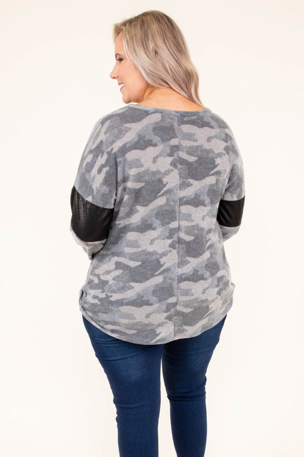 shirt, long sleeve, twisted hem, short, olive, camo, black stripe, white stripe, comfy, fall, winter