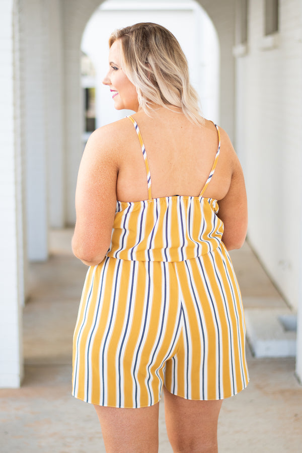 Fields of Gold Romper, Mustard