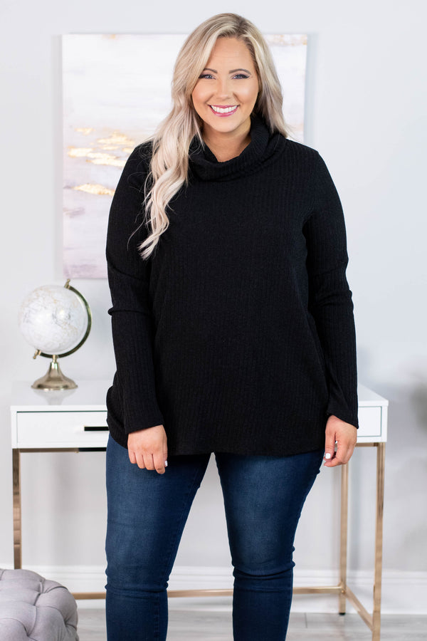 Winter Cheer Sweater, Black