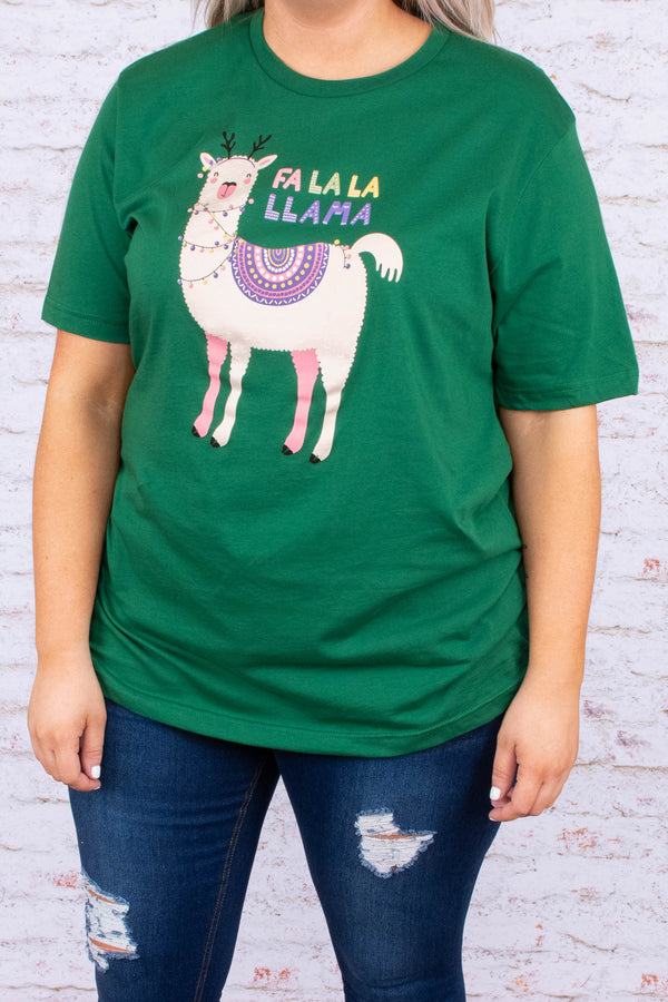 tshirt, short sleeve, green, graphic, llama, white, purple, red, blue, yellow, black, comfy, christmas, winter