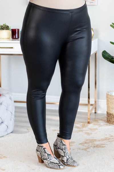 leegings, black, faux leather, shiny, long, comfy