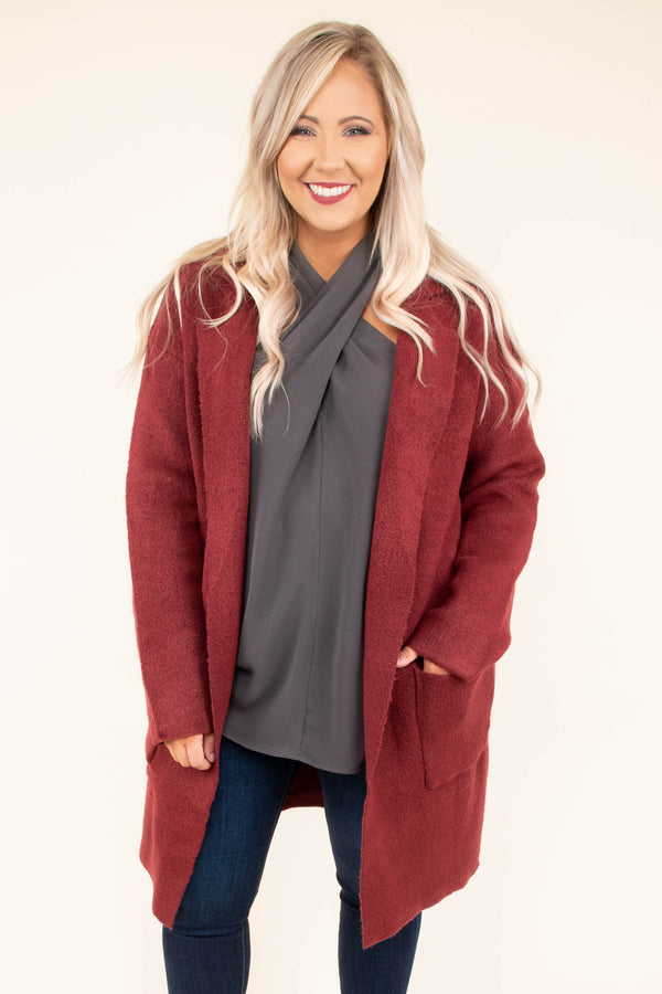 coat, long sleeve, long, pockets, soft, red, lapels, outerwear, fall, winter