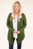 To The Mountains Cardigan, Army Green