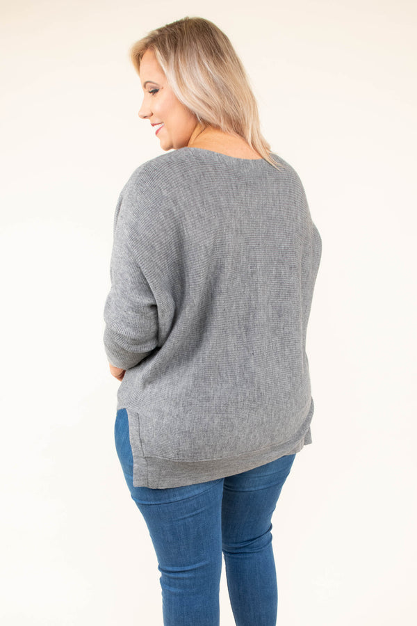 Smoky Eyes Top, Heather Gray