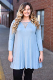 Off The Charts Tunic, Ice Blue