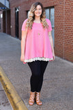 Working For the Weekend Tunic, Hot Pink