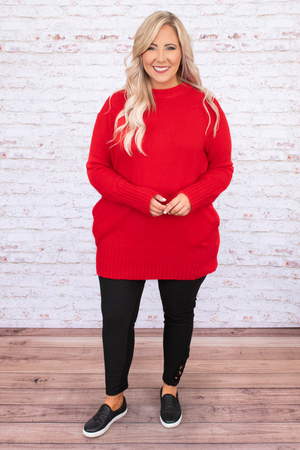 dress, short, long sleeve, pockets, sweater dress, fitted, red, comfy, fall, winter